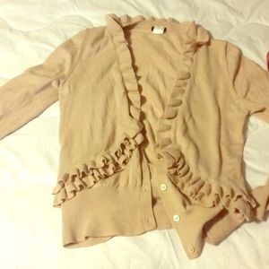 J. Crew wool ruffle sweater in awesome condition
